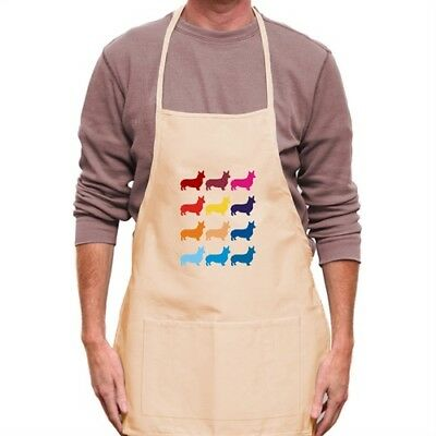 Colorful Pembroke Welsh Corgi Apron