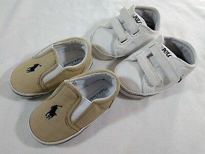 Polo Ralph Lauren Toddler Size 4 Baby Boy Shoes Lot Pony