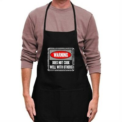 Warning Does Not Cook Well With Others Apron