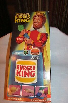 "Vintage The Magical Burger King Doll 20"" Tall 1980 Knickerbocker In Orig. Box"