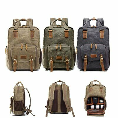 Backpack Rucksack Waterproof Unisex DSLR Camera Travel Laptop Lens Case Bag BK