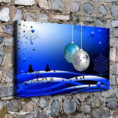 snowflakes and balls HD Canvas Print Painting Home Decor Wall Art Picture A7597