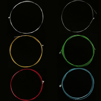 6 X Rainbow Colorful Color Strings for Acoustic Guitar