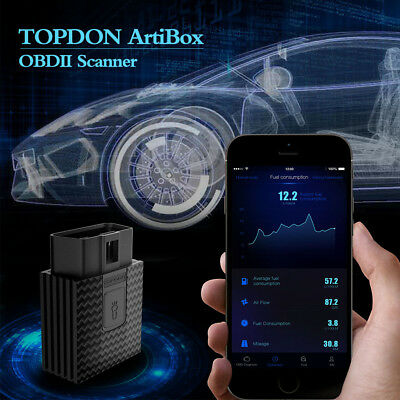 TOPDON ARTIBOX OBD2 Diagnostic Scan Fault Code Reader Android/IOS FreeAPP  Update