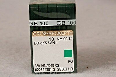 100 Qty Groz Beckert Industrial Embroidery Machine Needles Dbxk5 San 1  10 90/14