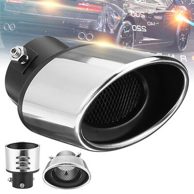 Universal Car Rear Curved Exhaust Tail Pipe Stainless Steel Chrome Muffler Tip