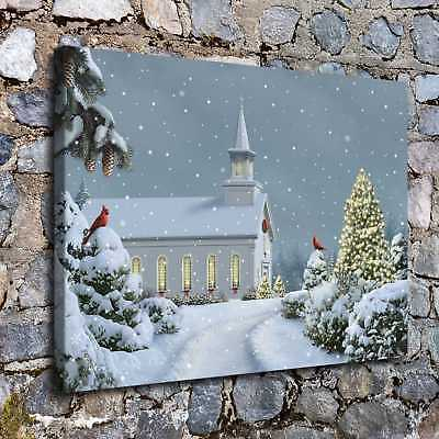 Christmas castle HD Canvas Print Painting Home Decor Room Wall Art Picture H2162