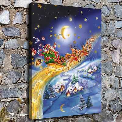 """12""""x16""""Christmas fantasy HD Canvas Print Painting Home Decor Wall Art Picture"""