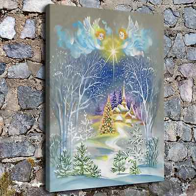 """12""""x18"""" fantasy Christmas HD Canvas Print Painting Home Decor Wall Art Picture"""
