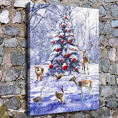 "12/""x16/""Christmas landscape HD Canvas Print Painting Home Decor Wall Art H2210"