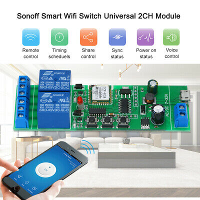 Sonoff Smart Wifi Switch Module universel 2CH USB DC5V / 7-32V Switch sans Y0F2