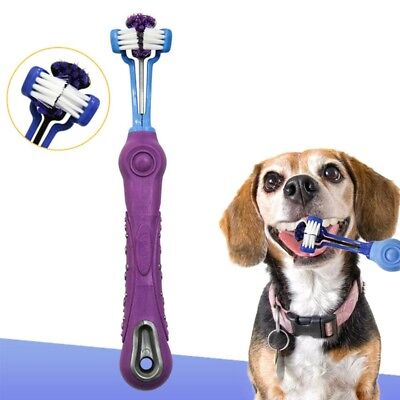 Three Sided Pet Toothbrush Dog Teeth Care Dog Cat Cleaning Mouth Oral Hygiene