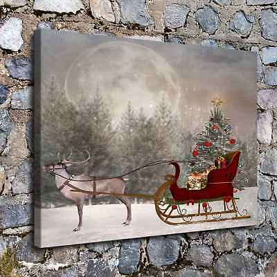 Christmas landscape HD Canvas Print Painting Home Decor Wall Art Picture H2210