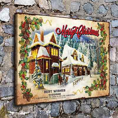 Christmas castle HD Canvas Print Painting Home Decor Room Wall Art Picture H2215