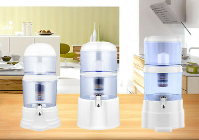 Water Filter Ceramic Carbon Mineral Bench-top Dispenser Purifier - 8 Stages