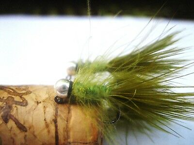 (8) Tungsten UV CDC Micro Wooly Buggers Euro Nymhing sz. 14 on Jig Hook