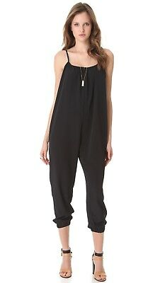 Hatch Collection Maternity The Jumper Jumpsuit Overalls Black Size 2