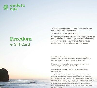 $375 Endota Spa Gift Card $400 (save $125) -  -Great Gift