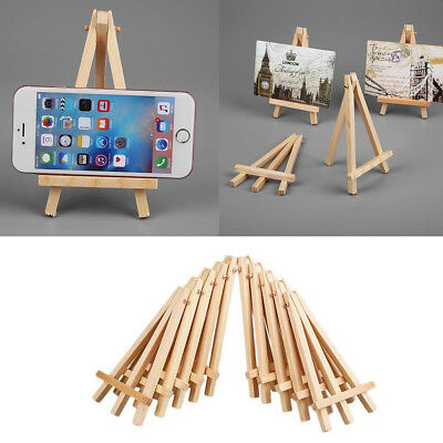 10 Pcs Mini Artist Wooden Easels Artwork Display Holder Wedding Table Card Stand