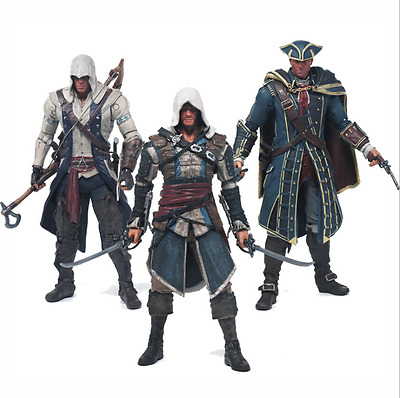 """6"""" McFarlane Toy Assassin's Creed Haytham Kenway Connor Edward Action Figure Hot"""