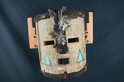 16# Antique Kachina HELMET  - HOPI, Native American, Plain Indians, Mid 20th c.