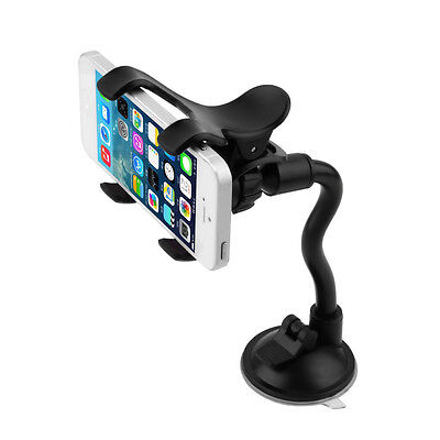 HOT Rotatable Car Windscreen Suction Cup Mount Mobile Phone Holder Bracket Black