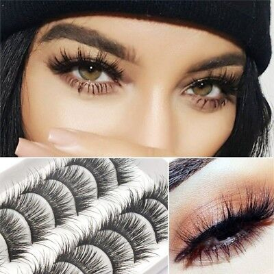 10Pairs 3D Mink Lashes False Eyelashes Long Lasting Lashes Natural Lightweight a