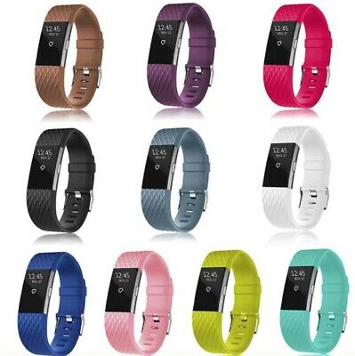 Silicone Replacement Band Strap Rubber Wristband Bracelet for Fitbit Charge 2