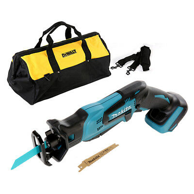 "Makita DJR183 18V Mini Reciprocating Saw With Dewalt 24"" 6 Pockets Tool Bag"