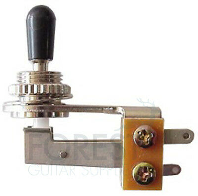 3 Way Toggle Switch angled GIBSON style, chrome, SG and 335