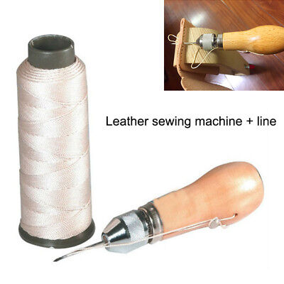 With Awl, Dark Brown JC Performance Leather Sewing Awl Quick Stitch Repair Tool Set Heavy Duty Thread