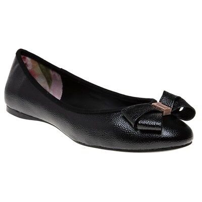 f77f359e0c71 NEW WOMENS TED BAKER BLACK IMMET 2 TEXTILE SHOES BALLERINA -  75.95 ...