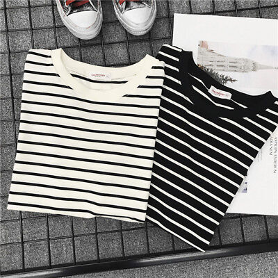Charm Summer Short Sleeve Casual T shirt Ladies Loose Tops Bottom Blouse N7