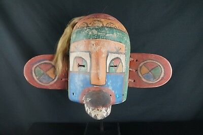 15# Antique Kachina MASK  - HOPI, Native American, Plain Indians, HORSE HAIR