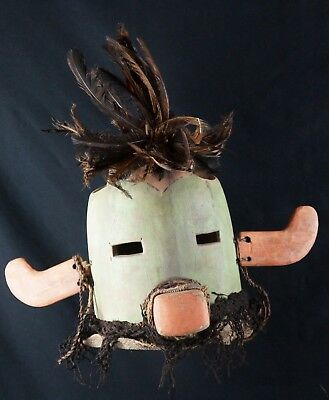 47# Antique Kachina Hopi HELMET - Native American