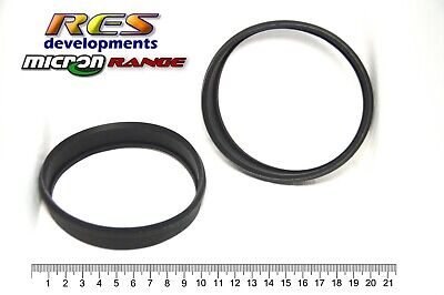 100Mm Diameter Micron Motorcycle Exhaust Canister / Muffler, Rubber Gasket Seals