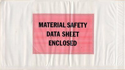 """1000 Pack of Packing envelopes 5"""" x 10"""".""""Material Safety Data Sheet Enclosed""""..."""