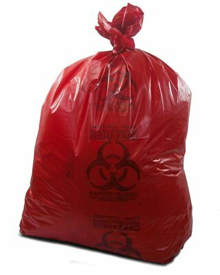 """Medical Waste Trash Bags 37"""" x 50"""". Pack of 150 red infectious Waste Bags."""