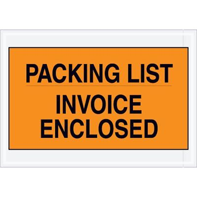 """1000 Pack of Full Face Packing List envelopes 7"""" x 10"""". Shipping mailers..."""