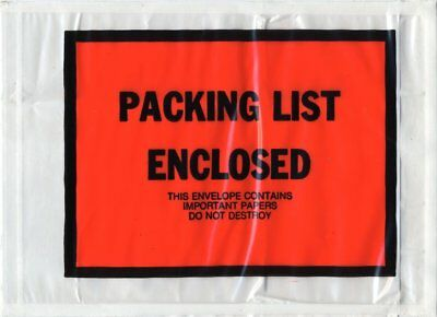 """1000 Pack of Full Face Packing List envelopes 5.25"""" x 7.5"""". Shipping mailers..."""