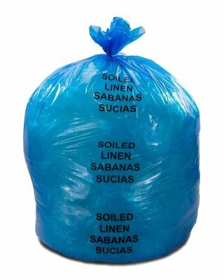 """Soiled Linens Trash Bags 37"""" x 50"""". Pack 150 Yellow Medical Waste Bags. 44 Gal"""