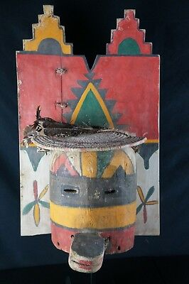 48# HUGE! Antique KACHINA Mask  - Pueblo, Native American