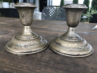 S. Kirk & Son Sterling Silver Repousse Candlesticks 5013