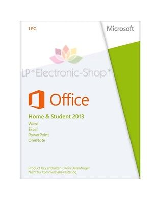 Microsoft Office Home And Student 2013 32/64 Bit 1 Pc *originale*fattura