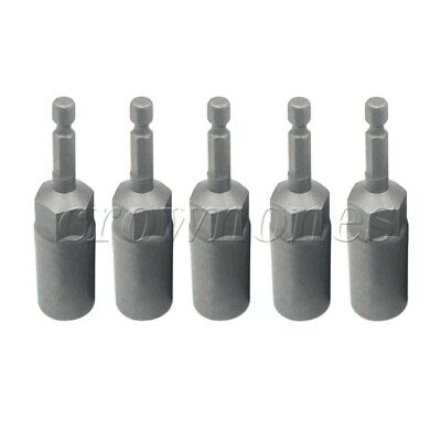 "5PCS 13mm Non-magnetic Hex Socket Sleeve 1/4"" Drill Bits Adapter Nut Driver Set"