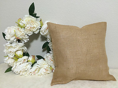 Burlap Pillow Throw Decorative French Country Farmhouse covers 1 pc 16 x 16