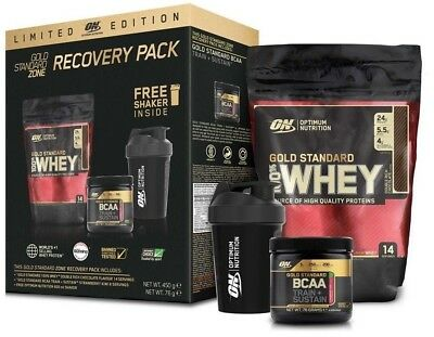 Optimum Nutrition Recovery Pack - Gold Standard Whey - Shaker und BCAA's!