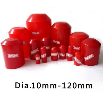 10mm-100mm Heat Shrink Boot End Caps Adhesive Glue Lined Red 2:1 Waterproof
