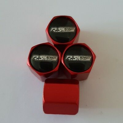 RENAULT RS SPORT Wheel Valve Dust caps all models 4 COLOURS all cars MATTE RED