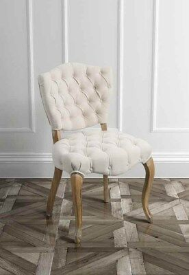 Hallway French Chair Shabby Chic Furniture Louis Style Bedroom Buttoned Back Leg
